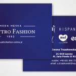 Wizytówka dla firmy Quattro Fashion